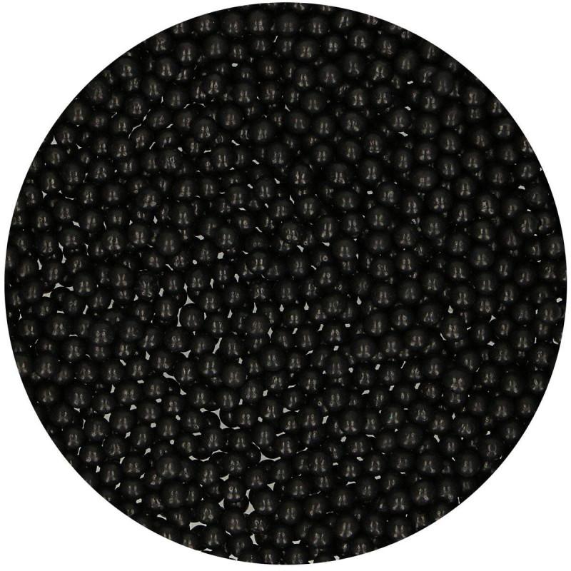 Perlas negras brillantes 4mm