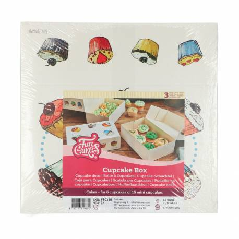 3 cajas de Cupcakes con decoraciones GOURMANDISED