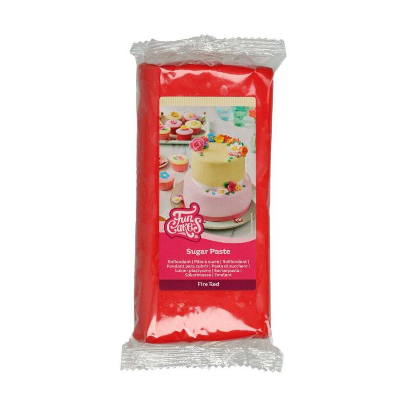 Pâte à sucre Funcakes ROUGE 1 KG