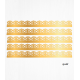 Gold baroque cake borders in Wafer paper