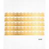 Bordure de gâteau or en Wafer paper style 7