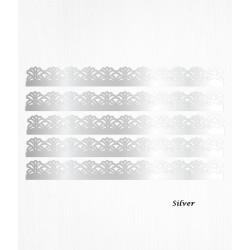 Bordure de gâteau argent en Wafer paper style 7