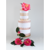 Bordures de gâteau baroque argent en Wafer paper