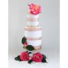 Bordure de gâteau or rose en Wafer paper style 7