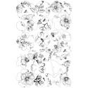Kit de decoración con diseño floral en papel de oblea