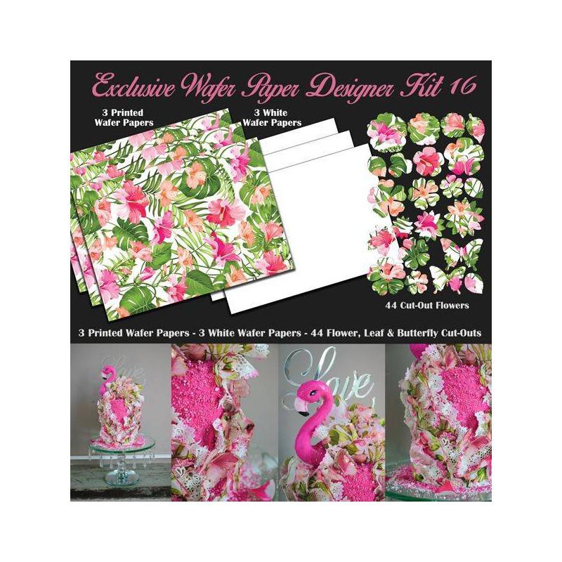 Tropical design wafer paper decoration kit