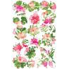 Kit de décorations en Wafer paper design tropical