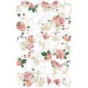Kit de decoración de papel de oblea con diseño de flores rosas