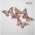 Papillons or ROSE en wafer paper x22