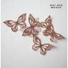 Papillons en wafer paper or rose x22
