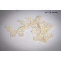 Mariposas en papel de oblea blanco perla x22