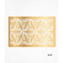Feuilles de décors or en Wafer paper motif feuilles x2