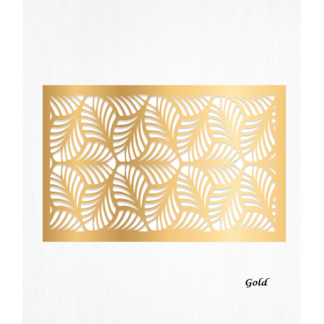 Wafer paper pattern gold decoration sheets x2