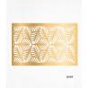 Feuilles de décorations or en Wafer paper motif feuilles x2