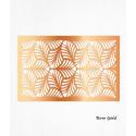 Feuilles de décors or ROSE en Wafer paper motif feuilles x2
