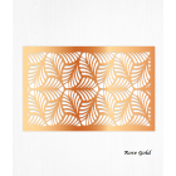 Feuilles de décorations or rose en Wafer paper motif feuilles x2