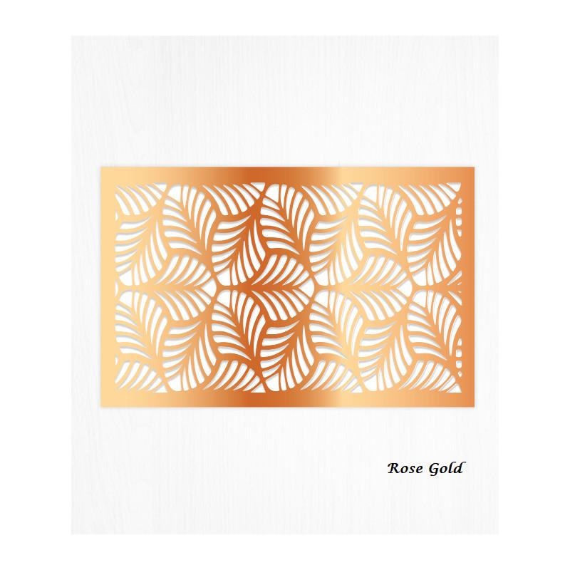 Wafer paper pattern rose gold decoration leaves x2