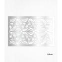 Hojas de decoración de papel de oblea de plata x2