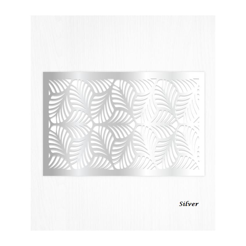 Feuilles de décors argent en Wafer paper motif feuilles x2