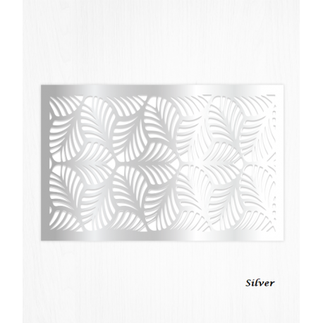 Wafer paper pattern silver decoration sheets x2
