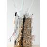 Feuilles de décorations argent en Wafer paper motif feuilles x2