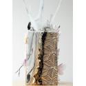 Feuilles de décors blanches en Wafer paper motif feuilles x2