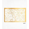 Papel de oblea decoración de oro hojas patrón floral x2