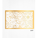 Wafer paper gold decoration leaves floral pattern x2