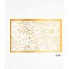 Feuilles de décorations or en Wafer paper motif floral x2