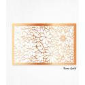 Wafer paper rose gold decoration leaves with floral design x2