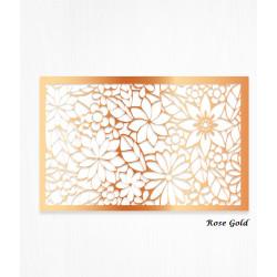 Feuilles de décorations or rose en Wafer paper motif floral x2