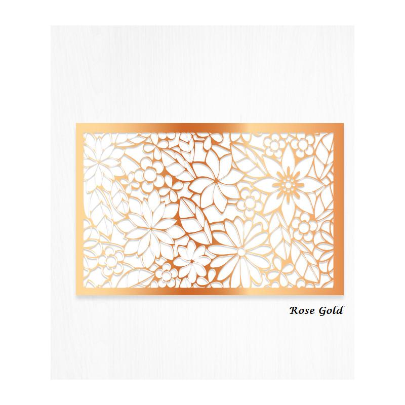 Feuilles de décors or ROSE en Wafer paper motif floral x2
