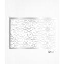 Feuilles de décors argent en Wafer paper motif floral x2