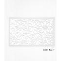 Hojas de decoración de papel de oblea blanco con diseño floral x2