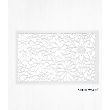 Wafer paper white decoration sheets with floral design x2