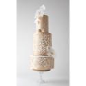 Feuilles de décors blanches en Wafer paper motif floral x2