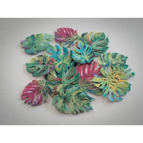 Monster tropical leaves in wafer paper x 10