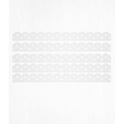 Bordure de gâteau arc blanche en Wafer paper
