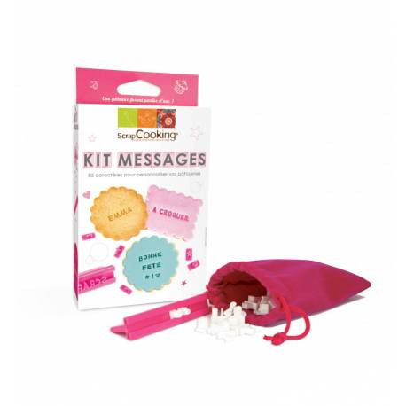 Kit de mensajes sobre galletas