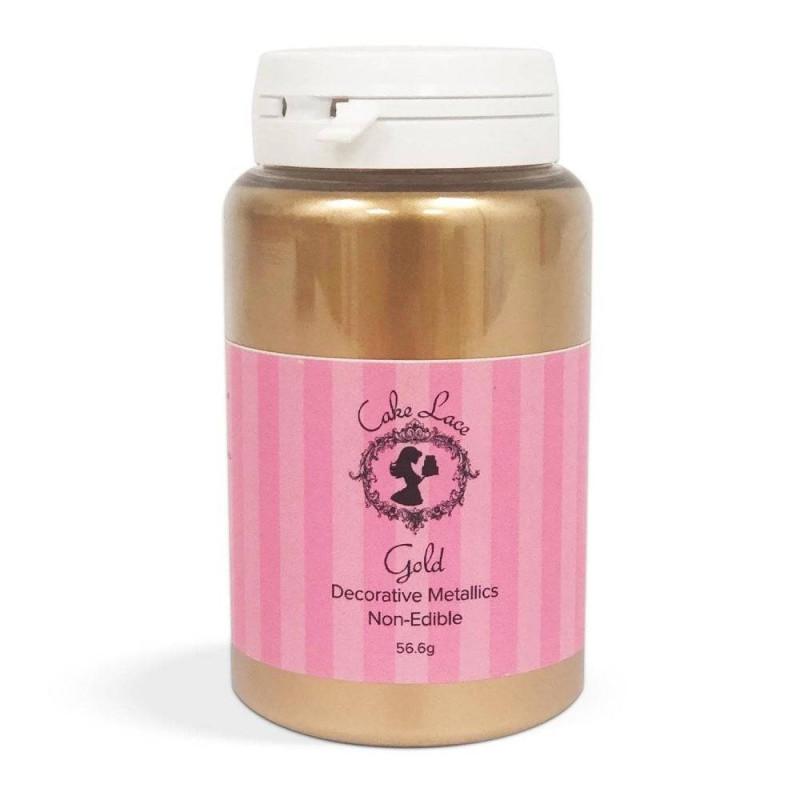 Gold powdered dye 56.6g Cake Lace