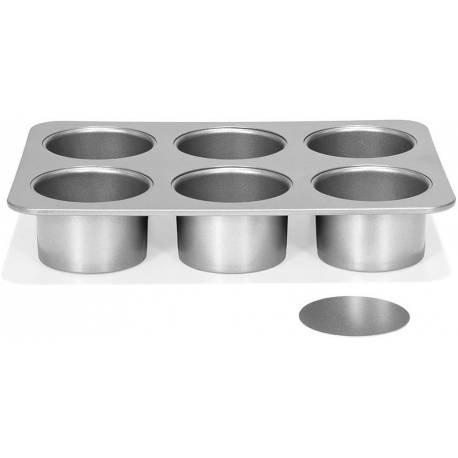 Mini cheesecake mould with removable bottom 6 cavities