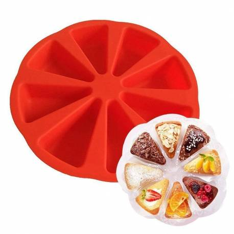Molde de silicona para piezas de tarta x8