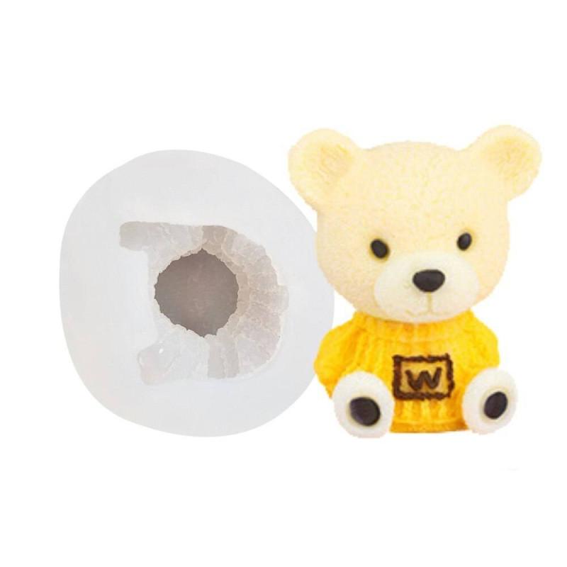 Silicone mold 3D teddy bear