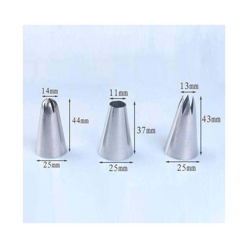Set de 3 douilles extra large 1M, 2D et 2A