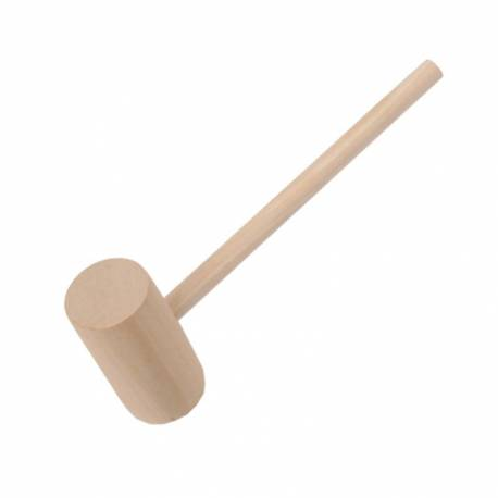 Wooden hammer for chocolate