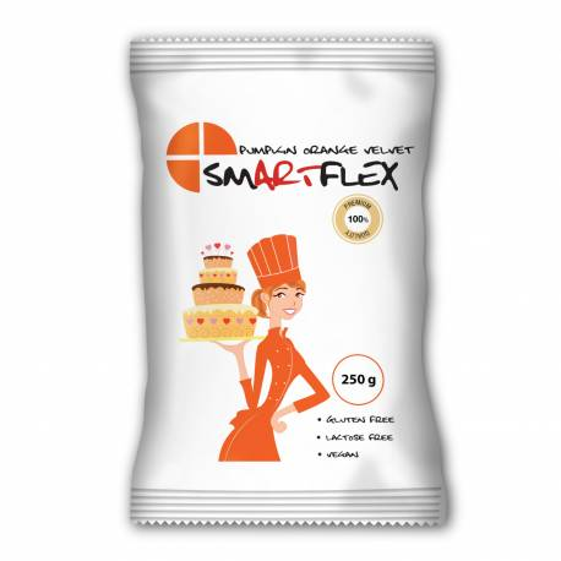Pasta de azúcar Smartflex naranja 250g