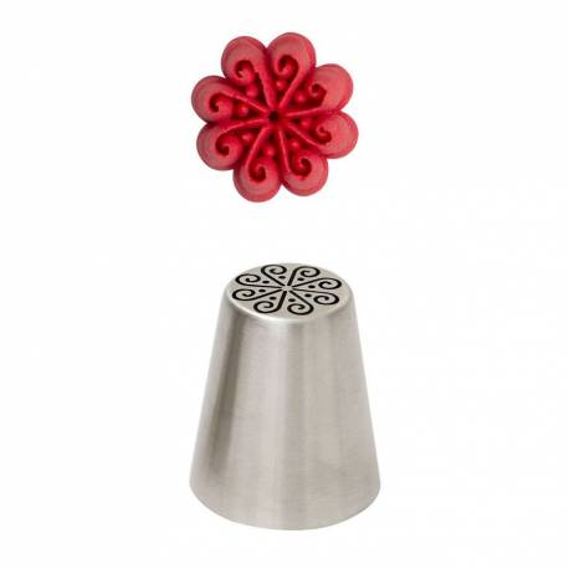 Manguito de flor de remolino 3D
