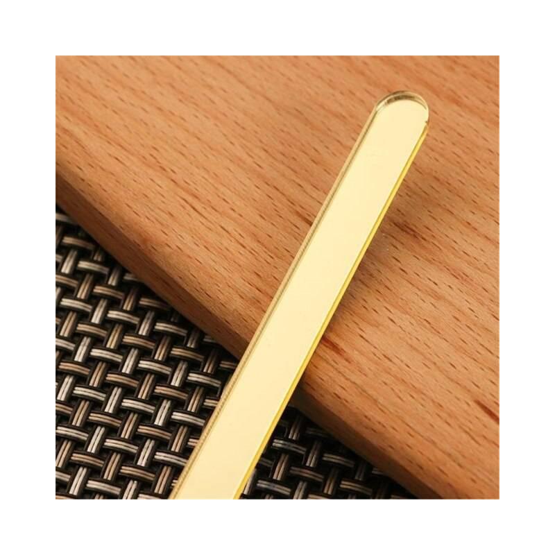 Palitos de acrílico con espejo dorado x10