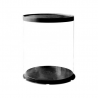 Boite à Gateau ronde transparente noire