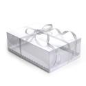 Transparent rectangular cake box
